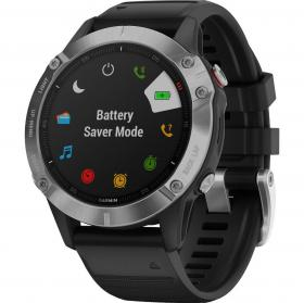Garmin Fenix 6 (Silver with Black Band) (010-02158-00)