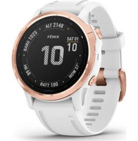 Garmin Fenix 6S Pro (Rose Gold-Tone With White Band) (010-02159-11)