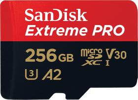 Sandisk Extreme Pro microSDXC 256GB V30 A2 with Adapter (SDSQXCZ-256G-GN6MA)